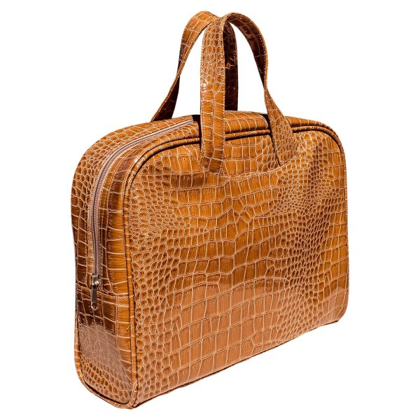 Shoppertasche Kroko-Optik, Fb. camel