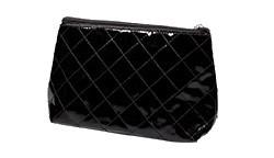 Cosmetic-Bag, Lack-schwarz, klein